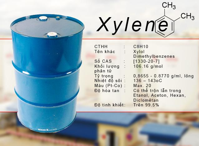 Xylene - Dung môi pha keo